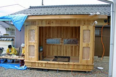 木箱no.1見学会会場セットでの風景1