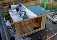 木箱no.1   製作過程 屋根材張り