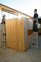 木箱no.1   製作過程 壁〜屋根