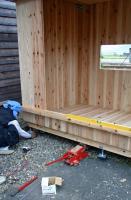 木箱no.1製作過程 足元高さ調整