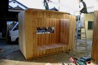 木箱no.1   製作過程 壁〜屋根  別アングル